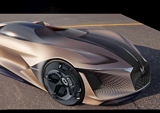 DS X E-Tense: Netradiční elektrický sportovec z roku 2035 s výkonem 1000 kW