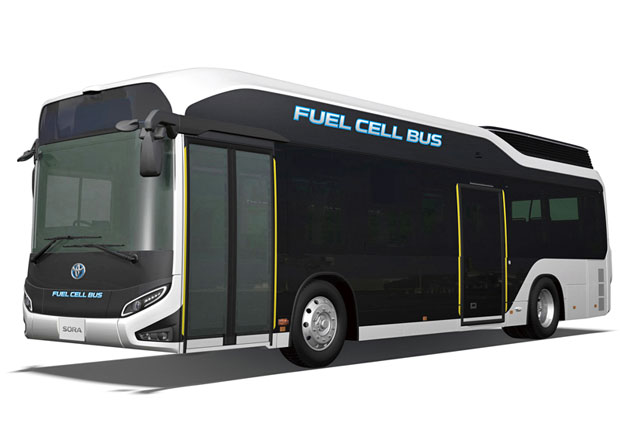 Toyota spustila výrobu autobusů Sora s palivovými články