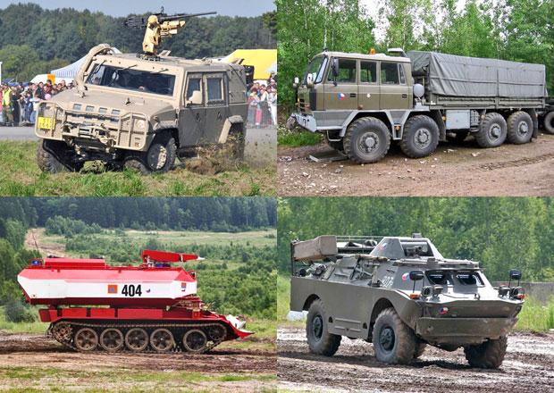 Podívejte se na kolová a pásová vozidla české armády
