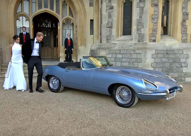 Na královské svatbě se ukázal i tenhle krásný Jaguar E-Type. Proč je tak tichý?
