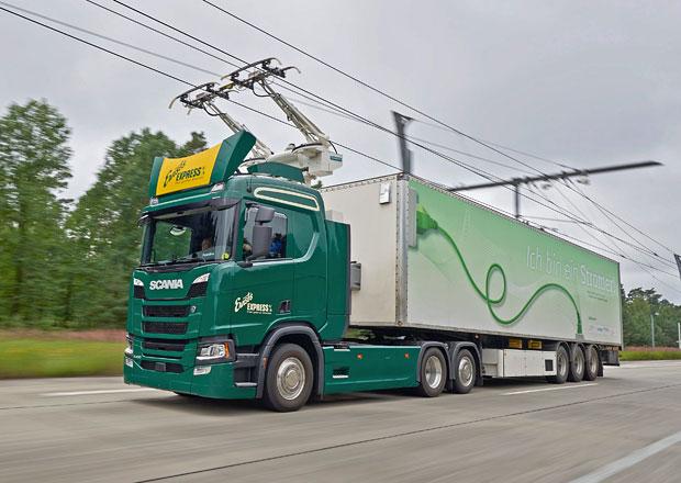 Scania se podílí na projektu elektrifikované dálnice v Německu