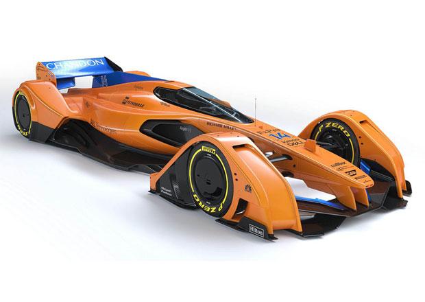 McLaren ukazuje budoucnost F1: Jezdec vůz ovládne myšlenkami, ale fanoušek jej neuvidí