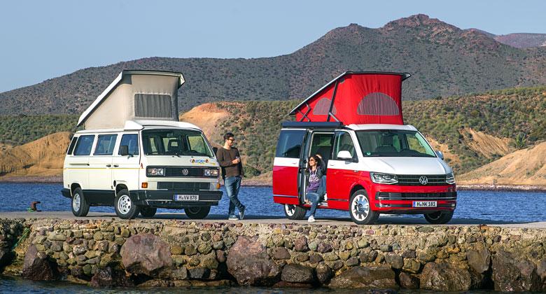 Prohlédněte si populární obytný Volkswagen California ve všech jeho podobách!