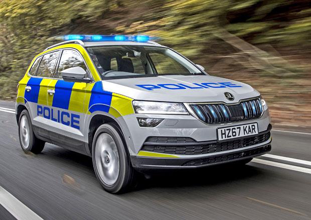 Policejní Škoda Karoq se hlásí do služby. Sloužit bude v Británii