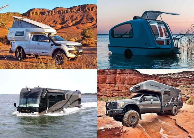 Netradiční karavany a obytné vozy ve velké galerii