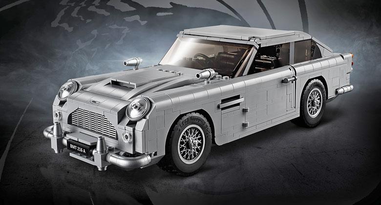 Další parádní Lego stavebnice! Bondův Aston Martin DB5 z kostek má unikátní výbavu