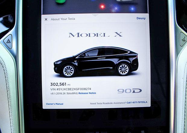 Tesla Model X 90D ujela více než 480.000 km. Za dva roky...