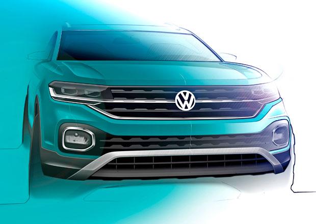 Chystaný Volkswagen T-Cross na nových skicách: Automobilka ukazuje práci návrhářského týmu
