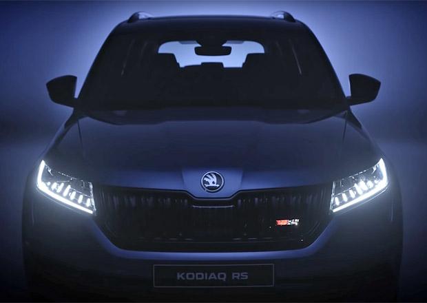 Škoda poodhaluje Kodiaq RS. Sportovní SUV dostane speciální přístrojový štít