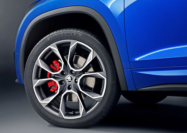 Škoda Kodiaq RS prozrazuje další detaily. Dostane dvacetipalcová kola!