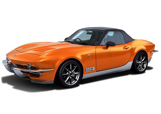 Japonský specialista na retro se předvedl. Mitsuoka Rock Star je Mazda MX-5 s designem Corvetty
