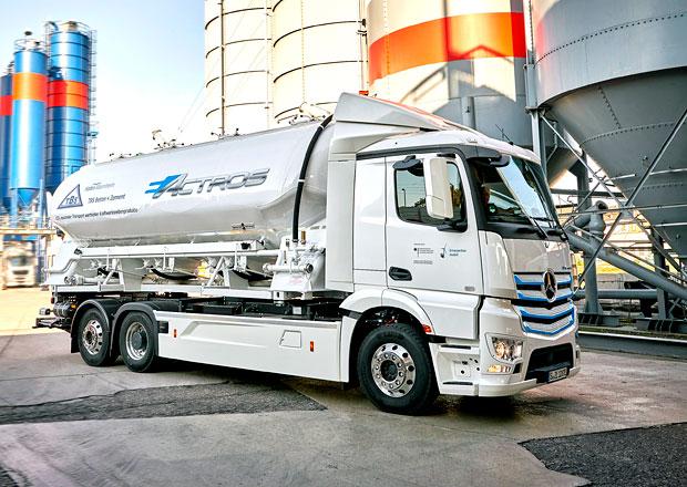 Elektrický Mercedes-Benz eActros zamířil do služeb TBS Transportbeton