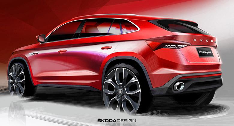Škoda Kodiaq GT: SUV-kupé z Mladé Boleslavi se představuje na prvních skicách
