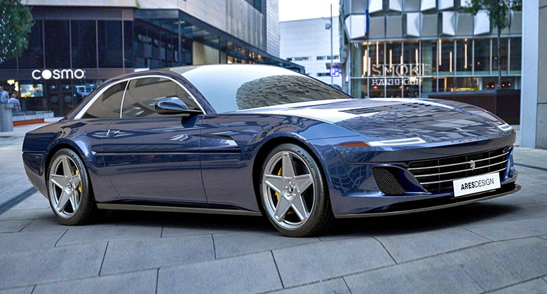 Ares Design mění Ferrari GTC4Lusso v moderní intepretaci kupé 412 z osmdesátých let