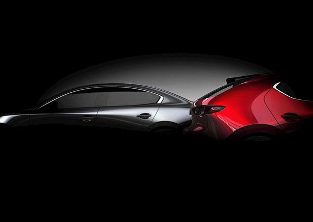 Nová Mazda 3 odhaluje svou siluetu. Uvidíme ji v Los Angeles