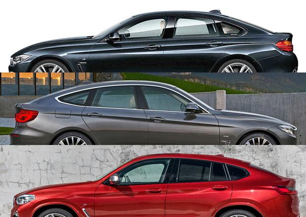 BMW 3 Gran Turismo je jiným autem než 4 Gran Coupe tvrdí BMW. Ale co X4?