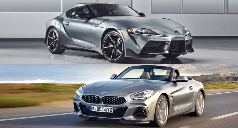 Toyota Supra vs. BMW Z4: Prozkoumejte sourozence s totožnou technikou bok po boku