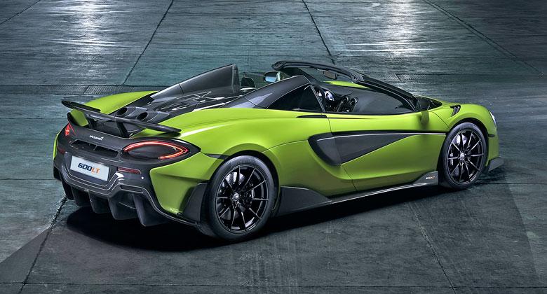 McLaren 600LT Spider nabízí 600 koní a jízdu s větrem ve vlasech