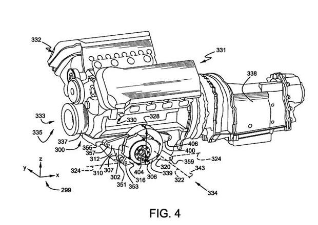 Ford si patentoval kombinaci V8 s dvojicí elektromotorů