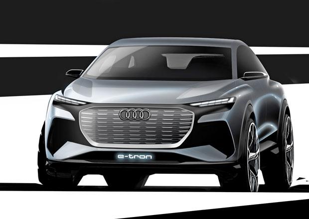 Audi představí koncept elektrického SUV Q4 v Ženevě, nabízí první ochutnávku