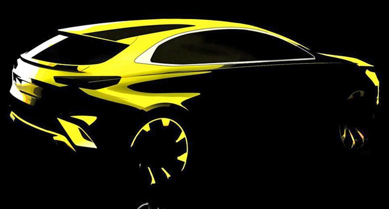 Kia v Ženevě rozšíří nabídku modelu Ceed. Tohle je první nákres crossoveru Xceed