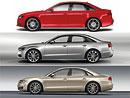 Audi A4 vs. A6 vs. A8: Designový trojboj