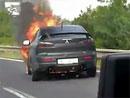 Video: V Praze shořelo Mitsubishi Lancer Evo X