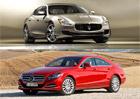 Designový duel: Maserati Quattroporte vs. Mercedes-Benz CLS