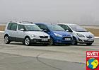 Ford B-Max vs. Opel Meriva vs. �koda Roomster � Neoby�ejn� �ivot oby�ejn�ch dve��