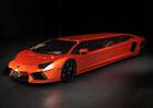 Dílo šílence: Lamborghini Aventador jako prodloužená limuzína (video)