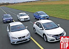 Srovnávací test: Honda Civic vs. Hyundai i30 vs. Seat Leon vs. Škoda Rapid vs. Volvo V40