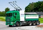 Scania a Siemens představují elektřinou poháněné nákladní vozidlo