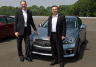 Carlos Ghosn spustil výrobu nového Infiniti Q50
