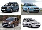 Dacia Dokker vs. Berlingo, Partner a Roomster: Co koupit?