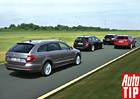 BMW 320d Touring vs. Mazda 6 Wagon vs. Peugeot 508 SW vs. Škoda Superb Combi