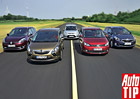 Ford Grand C-Max vs. Kia Carens vs. Opel Zafira Tourer vs. Renault Grand Scénic vs. VW Touran