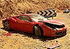 Další zničené Ferrari 458 Italia, tentokrát v Izraeli
