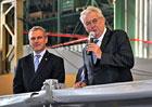 Prezident Miloš Zeman navštívil automobilku Tatra