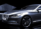 Hyundai Genesis: Nov� generace na ofici�ln�ch po��ta�ov�ch kresb�ch