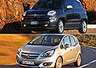 Designový duel: Fiat 500L vs. Opel Meriva