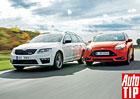 Škoda Octavia RS TSI Combi vs. Ford Focus ST Kombi: Kdo vyhraje?