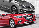 Designový duel: Mazda 3 vs. Renault Mégane