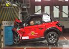 Euro NCAP vyzkoušelo minivozy typu Renault Twizy, propadly (+video)