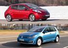 Nissan Leaf vs. Volkswagen e-Golf: Srovn�n� cen a v�bav
