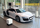 Exkluzívní v exkluzívním. Audi R8 v Audi Terminalu.