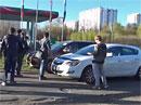 Video: Takto se v Rusku bojuje s řidiči, kteří si zkracují cestu po chodnících