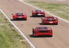 Video: Ferrari F40, F50, Enzo a LaFerrari na jednom okruhu!