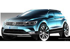 Volkswagen Tiguan se ukazuje na nov�ch skic�ch, p�edstav� se ji� za hodiny
