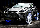 Crossover Lexus NX dostal ledov� kola (video)