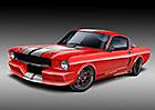 Klasický Mustang se čtyřválcem EcoBoost: Svatokrádež od Classic Recreations